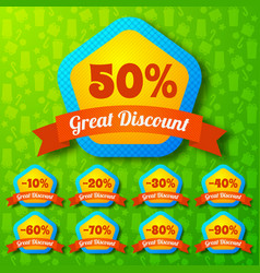 great discount design concept vector image