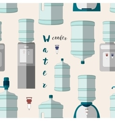 Icons for water cooler appliance pattern vector image