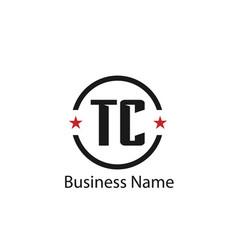 Initial letter tc logo template design vector
