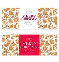 invitation merry christmas banner with vector image