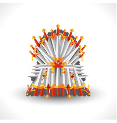 iron throne for computer games design vector image