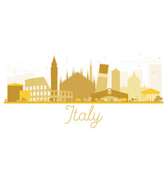 italy skyline golden silhouette vector image