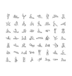 Kama sutra sexual pose sex poses of vector