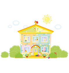 Kindergarten with toys vector