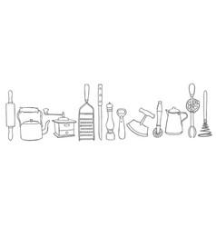 Kitchen tool set vector