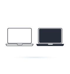 laptop icon logo design template vector image