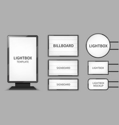 Light boxes retail lighting 3d billboards retro vector