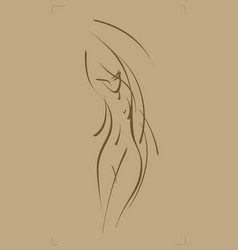 lines form image female body vector image