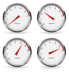 manometer round gauge with metal frame different vector image