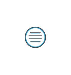 menu icon design essential icon vector image