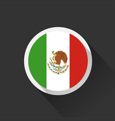 mexico national flag on dark background vector image