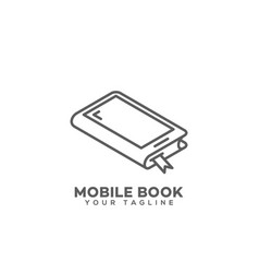 Mobile book logo vector