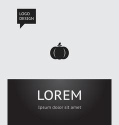 of gardening symbol on pumpkin vector image