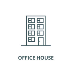 office house line icon linear concept vector image