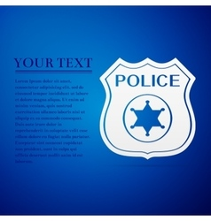 Police badges flat icon on blue background vector
