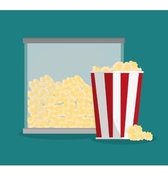 Pop corn of carnival design vector