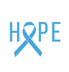 Poster hope with blue ribbon medical symbol vector