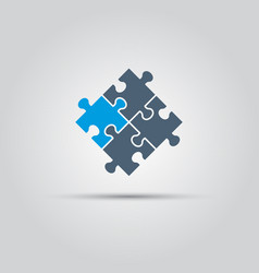 puzzle pieces isolated colored object vector image