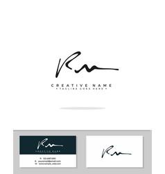 R m rm initial logo signature handwriting vector