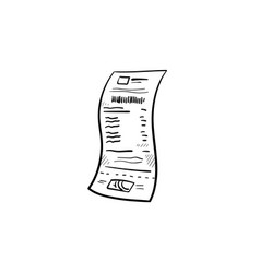 receipt hand drawn outline doodle icon vector image