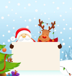 Reindeer Santa Message vector image