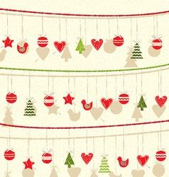 Retro Christmas Garland Background vector