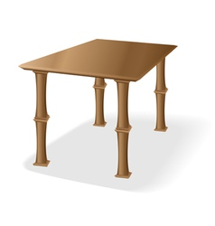 Retro old wooden table vector