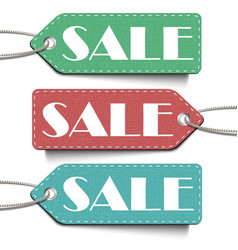 sale tags set tags sale isolated on white vector image