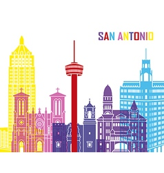 San Antonio skyline pop vector image