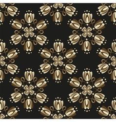 Seamless black vintage pattern vector image