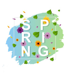 spring flowers banner vector image