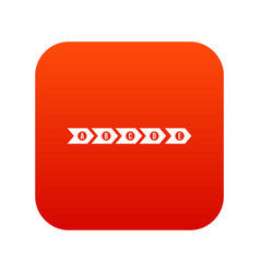 Step by step infographic icon digital red vector