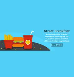 street breakfast banner horizontal concept vector image