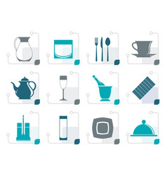 Stylized restaurant cafe bar and night club icon vector