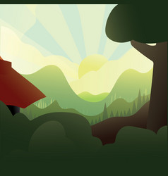 Summmer landscape vector