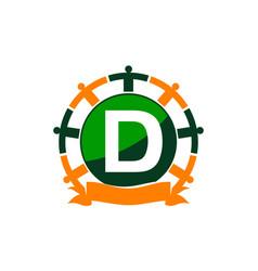Synergy logo initial d vector