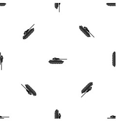 tank pattern seamless black vector image