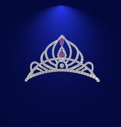 Tiara with precious stones 1 vector
