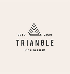 triangle hipster vintage logo icon vector image