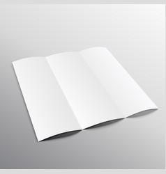 Trifold blank brochure mockup design in vector