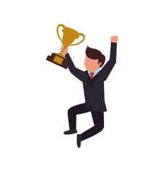 trophy winner man male human competition icon vector image