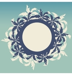 Tropical round frame with palm trees vector image