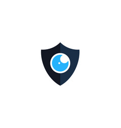 vision shield logo icon design vector image