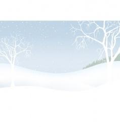 White Christmas winter scenery vector