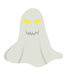Ghost flat icon halloween and scary horror sign vector