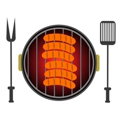 Grill Icon Isolated on White Background vector image