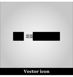 isolated USB pen drives black flash disk vector image