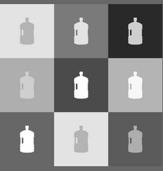 plastic bottle silhouette sign grayscale vector image vector image