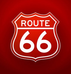 Red Route 66 Silhouette vector image vector image