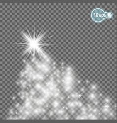 christmas starmagic stars isolated spark - stock vector image vector image